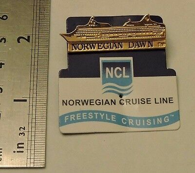 Norwegian Dawn Cruise Line NCL Lapel Cruise Vacation Pin New on Card Excellent