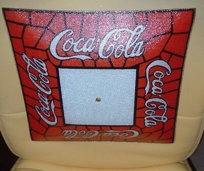 "Coke Vintage Coca Cola Advertising GLASS Light Shade 13 1/4"" BIG MINT Free ship"