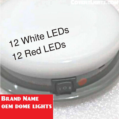 SoundOFF Signal DOME LIGHT RED White LED Light Police Package Plug Connector