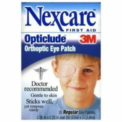 20 New Opticlude Orthoptic Regular Nexcare Eye Patch - 20 Pcs ( 1 BOX ) 3M