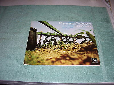 John Deere Row-Crop Cultivating Equipment 55 Page Brochure, 1972, A-11-72-11