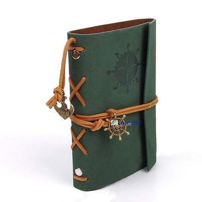 Vintage Classic Retro Leather Journal Travel Notepads Notebooks Blank Diary A B@