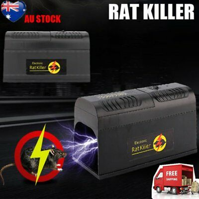 New Rodent Killer Electric Electronic Rat Mouse Mice Repellant Trap Au Stock Aua