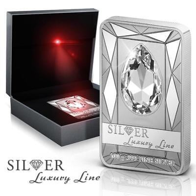 Cook 2013 $20 SILVER LUXURY LINE II 100 g Silver Coin with Huge Swarovski Stone