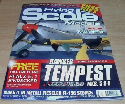 Flying Scale Models magazine MAR 2018 Kirby Gull Sailplane, Hawker Tempest &more