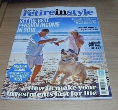 How to Retire in Style magazine 2018 Best Pension Income, Travel More Spend Less