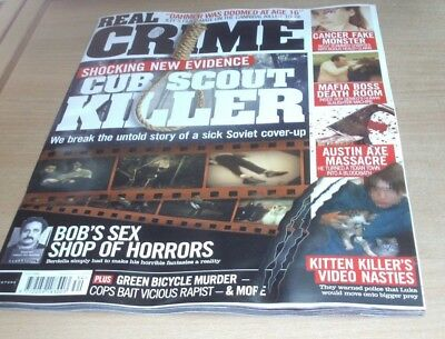 Real Crime magazine #34 2018 Cub Scout Killer, Sex Shop of Horrors, Death Room &