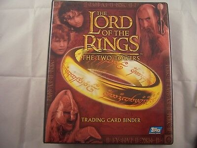 Lord of the Rings Two Towers Update Edition Trading Card Binder and Base set