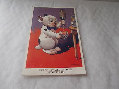 VINTAGE BONZO POSTCARD DON'T SAY ALL IS OVER BETWEEN US. 1951. No.874