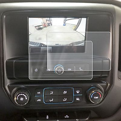 2 GMC Sierra 2014-2018 Anti Scratch Touch Screen Saver Protectors Clear 7 Inch