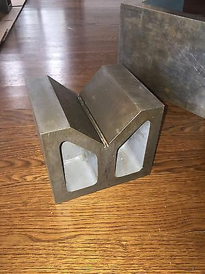 "V-BLOCK MACHINIST 7"" x 6"" x 6"" GROUND PRECISION"