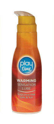Playtime Warming Sensation Lube Sex Lubricant Water Based Condom Safe 75ml