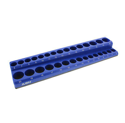 ABN Magnetic Bit Socket Organizer Wall or Bench Tray Plastic Holder Tool Case