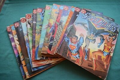 14 x The Superheroes DC Monthly comic. Vol 1 Nos 2 -8, 10 - 12 & Vol 2 nos 1 -4