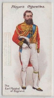 Earl Marshal of England Formal Uniform England King 100+ Y/O Trade Ad Card