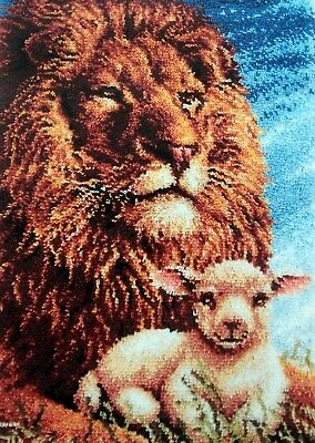 "Craftways  Animal Latch Hook  Rug Kit   ""lion And Lamb"""