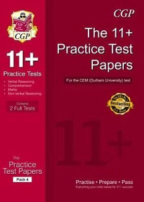 11+ Practice Tests for the CEM Test - Pack 4 by CGP Books 9781782946656