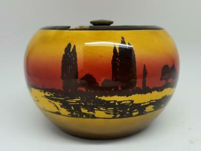 Royal Doulton POPLARS AT SUNSET Pattern Tobacco Jar & Cover