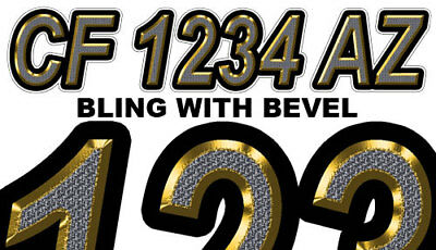 BLING Custom Boat Registration Numbers Decals Vinyl Lettering Stickers