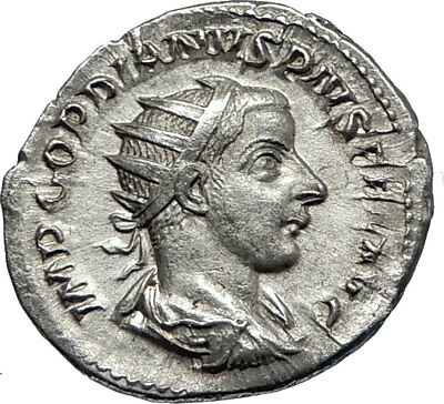 GORDIAN III 241AD Rome Authentic Ancient Silver Roman Coin JUPITER / ZEUS i67155