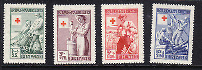 Finland Red Cross 1946 Complete set 412/15 Mint