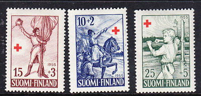 Finland Red Cross 1955 Complete set 547/9 Mint