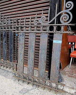Antique Cast Iron Grand Entry Gates Large Heavy Ornate Stunning Seven Matching