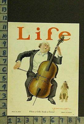 1924 Music Instrument Cello Composer Animal Dog Sing Illus Kilvert Cover Zq49