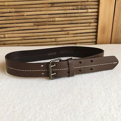 BOYS Childrens TODDLER Country Road CHOCOLATE Brown LEATHER Belt KIDS M Size 3/4