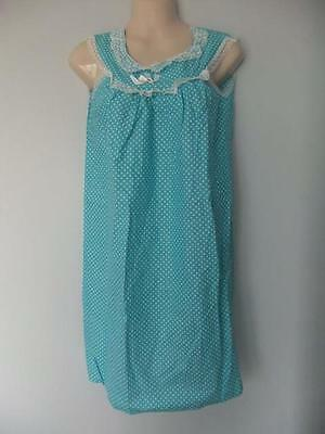 Vintage Short Nightgown Nighty Cotton Lace Polka Dots Lacy Sissy Nos 70S