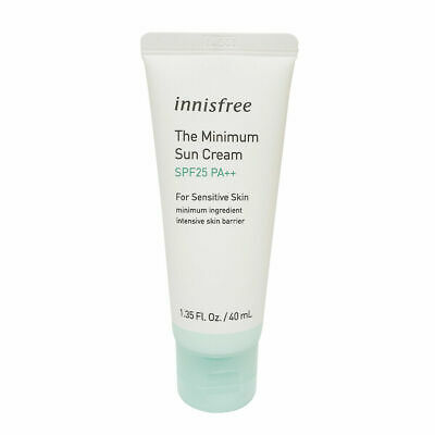 Innisfree The Minimum Sun Cream 40ml SPF25 PA++ For Sensitive Skin