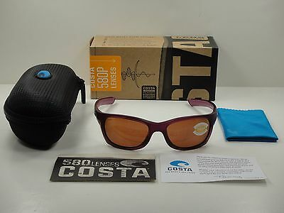 8a2fdda4ca422 Costa Del Mar Trevally Polarized Sunglasses Orchid copper 580P Lens Gt49 Ocp