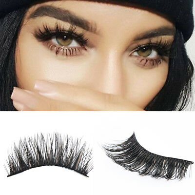 5 paires de luxe 3D faux cils Croix Naturel Long maquillage yeux lashes HOT