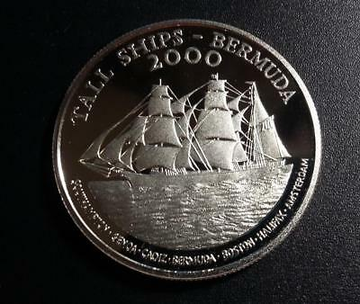 BERMUDA - 2000 Sterling silver Dollar - Tall Ships - PROOF in capsule