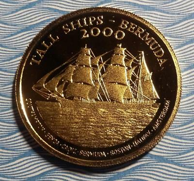 BERMUDA - 2000 GOLD $15 - Tall Ships - 15.97 g - .999 fine = .5129oz AGW - PROOF