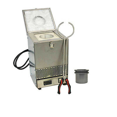 70 Oz Stainless Steel Tabletop Melting Furnace w/ 2kg Crucible 110V - HD-234SS-R