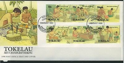Tokelau 1990 Men's Handicraft  First Day Cover - Unaddressed