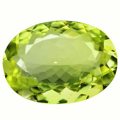 10.07 Ct IF Amazing  Oval Cut 18 x 13 mm AAA Yellow Green Sillimanite