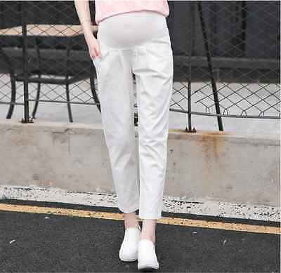 Women Adjustable Maternity Pregnancy Pregnant Casual Trousers Over Bump Pants