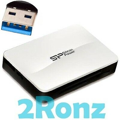 Silicon Power All-in-1 USB 3.0 Card Reader Micro SD/SDHC/SDXC CF XD MS Pro M2 TF