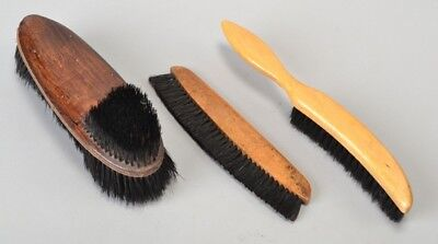 Rather Old Wooden Handled Bristle Brushes for Clothes & Top Hats. Ref CUP