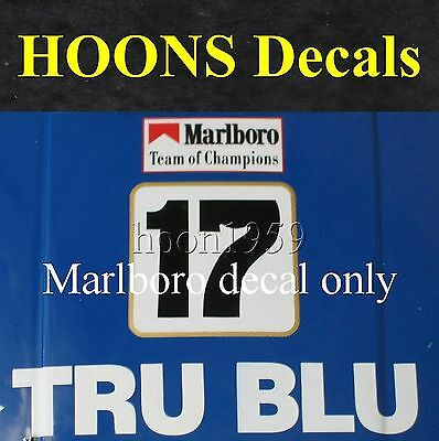 1:43 Waterslide missing MARLB0R0 Decal x2 for Johnson 1982 XE Red Roo Falcon