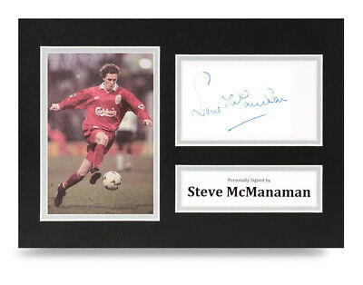 Steve McManaman Signed A4 Photo Display Liverpool Autograph Memorabilia + COA
