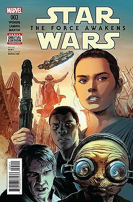 STAR WARS FORCE AWAKENS ADAPTATION #3 (OF 5), New, First print, Marvel (2016)