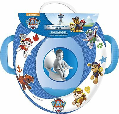 Childrens Paw Patrol Padded Soft Toilet Training Seat With Handles Baby Toddler