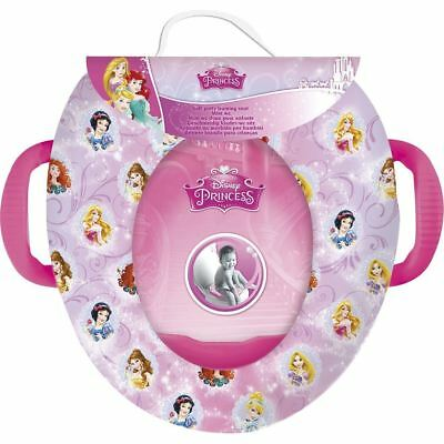 Childrens Disney Princess  Toddlers Padded Toilet Training Seat & Safety Handles