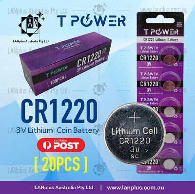 20 x CR1220 3V Lithium Battery STOCK IN Melbourne Button Coin Cell CR-1220