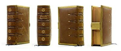 1864 Old Antique 19th Century Victorian Book Common Prayer New Testament Clasp .