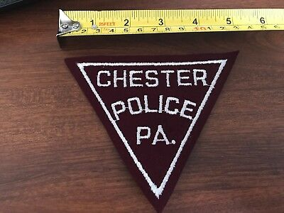 Chester Police PA Embroidered Sew on Patch EMS PD
