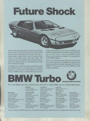 1971 ? BMW US 2002 2002tii 3.0CS Coupe Turbo Concept Brochure wz0359